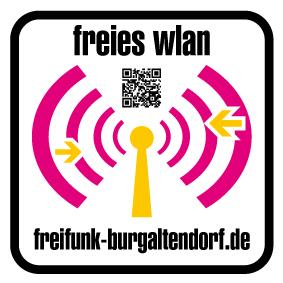 freifunk Burgaltendorf Hotspot Sticker